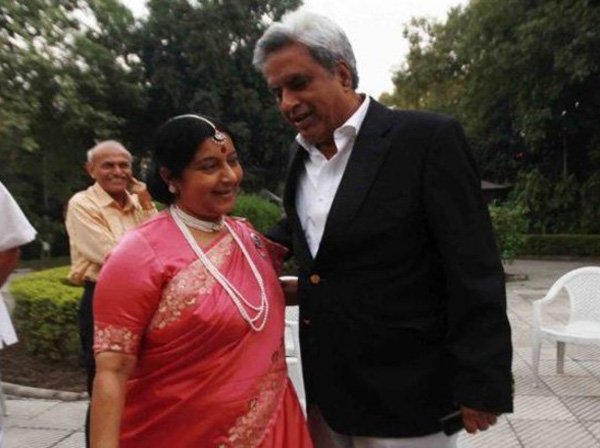 India Tv - Throwback to when Sushma Swaraj shared gorgeous picture as bride on wedding anniversary