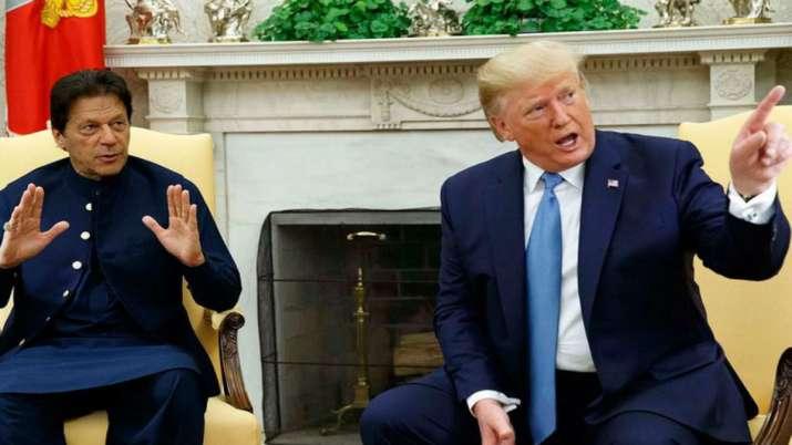 Imran Khan and US President Donald Trump during Pakistan