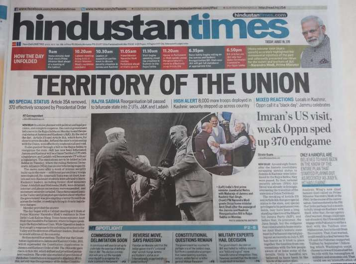 History, in one stroke to Patel 2 0: India's newspapers