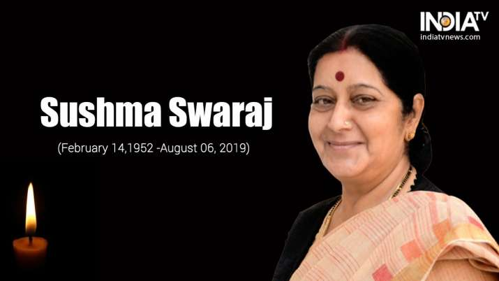 """""""Extremely shocked to hear of the passing of Smt Sushma"""