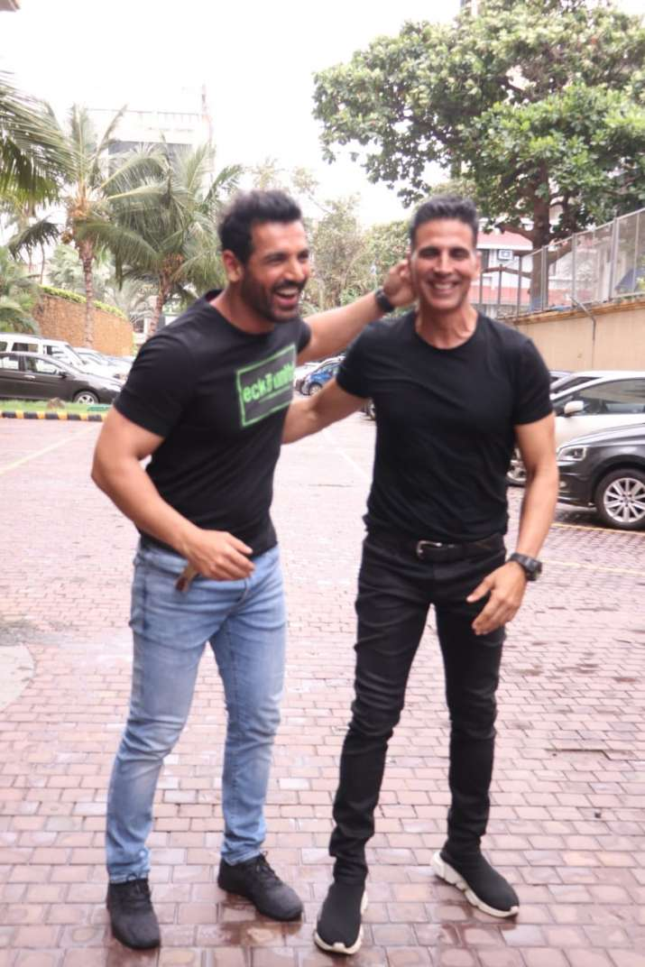 India Tv - Akshay Kumar and John Abraham