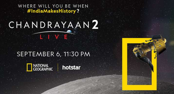 Nat Geo to broadcast Chandrayaan-2 moon landing live with ...