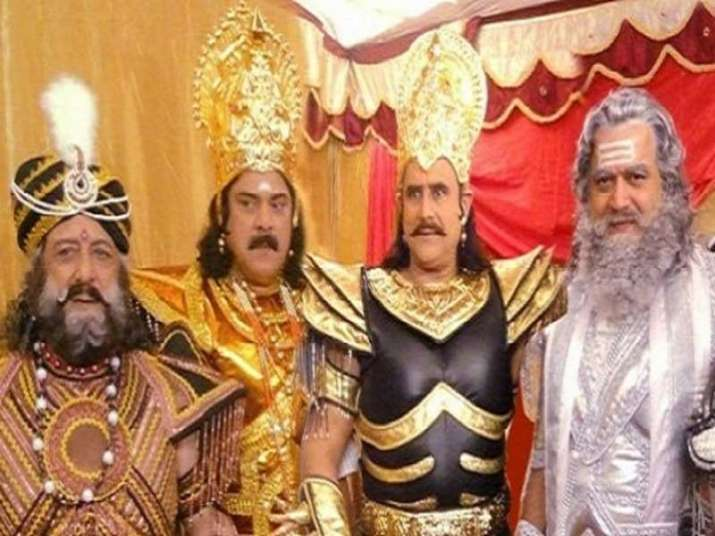 India Tv - Puneet Issar with others in B R Chopra's Mahabharat