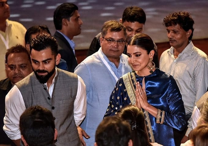 India Tv - Virat and Anushka at the DDCA event