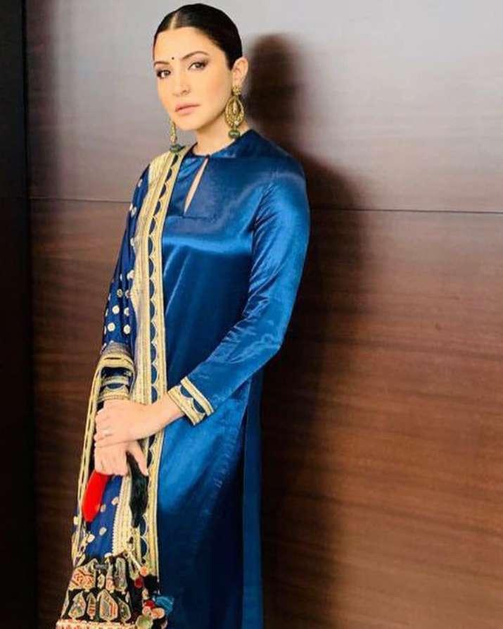 India Tv - Anushka in the latest Sabyasachi number