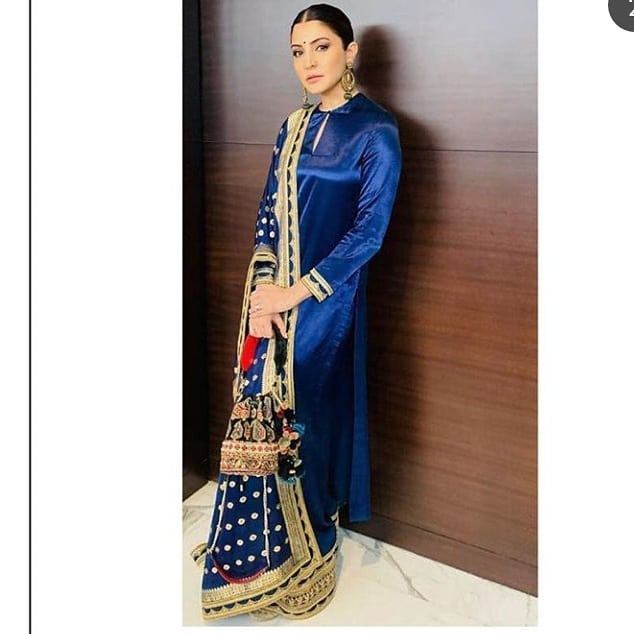 India Tv - The imperial blue Sabyasachi creation.