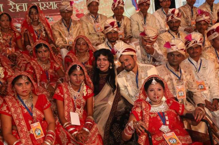 India Tv - Mass wedding in Udaipur