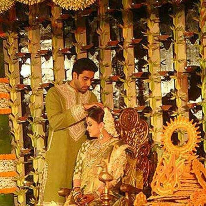 India Tv - Abhishek Bachchan and Aishwarya Rai Bachchan share a special moment at her baby shower
