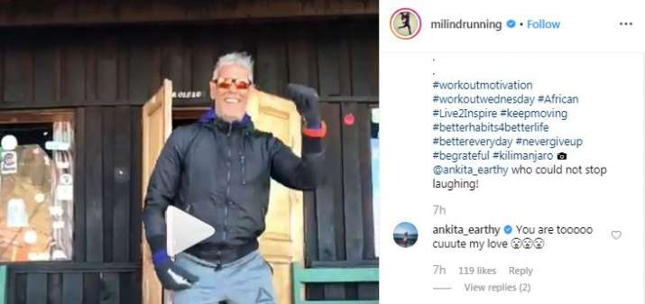 India Tv - Ankita Konwar's comments on Milind Soman's post