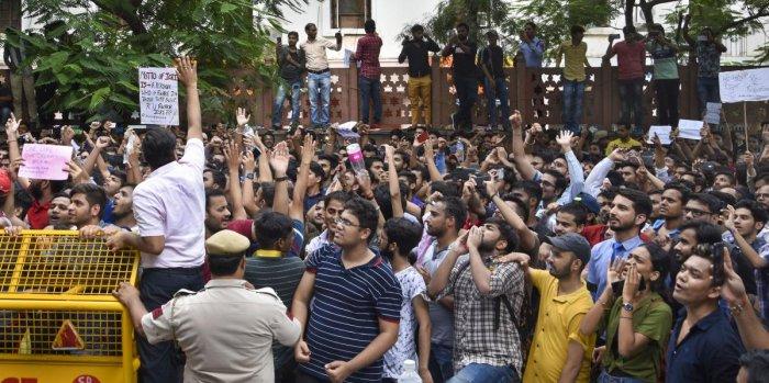 CA Students' protest: Massive social media furore,