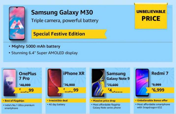 India Tv - Amazon is offering discounts on iPhone XR, OnePlus 7 Pro, Galaxy Note 9