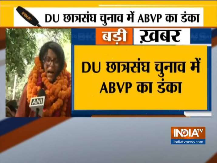 DUSU Election Results: ABVP wins 3 out of 4 posts; NSUI