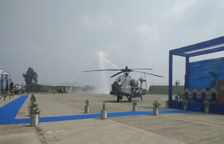 India Tv - Eight Apache attack helicopters join Indian IAF fleet at Pathankot Air Force Station