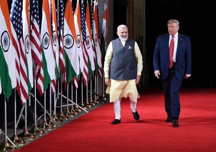 India Tv - Indian PM Narendra Modi with the American president, Donald Trump.