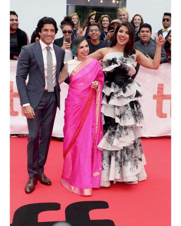 India Tv - Farhan Akhtar, Shonali Bose and Priyanka Chopra
