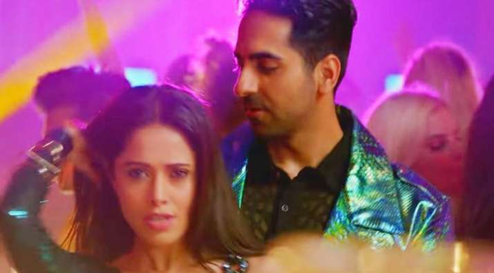India Tv - Ayushmann and Nusrat in Dream Girl still
