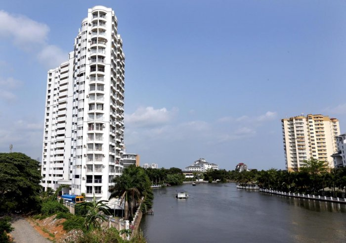Power, water supply lines to Kerala apartments snapped