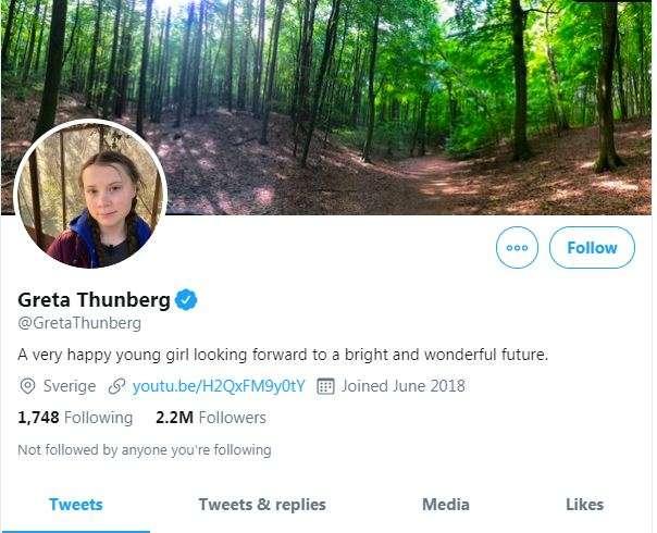 Greta Thunberg changes her Twitter Bio after Donald Trump remark