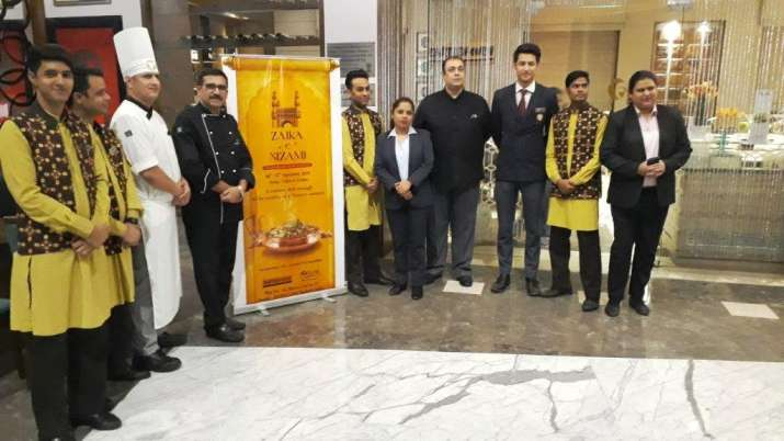 India Tv - Chef Lal Babu Sharma with other staff at Fortune Inn Grazia