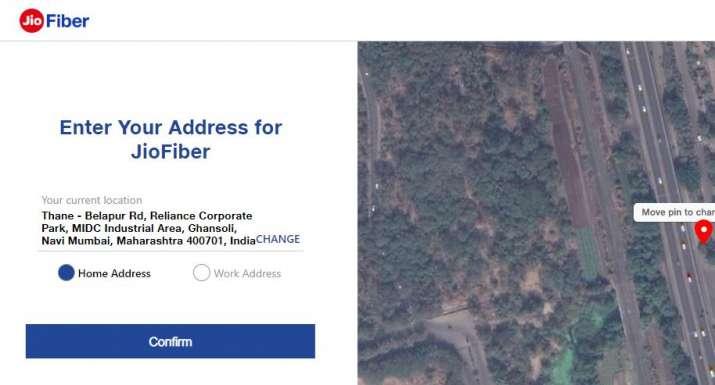 India Tv - Jio Fiber Online Registration page (screenshot)