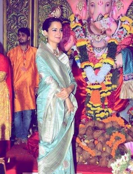 India Tv - Kangana Ranaut looking like a dream in this silk number!