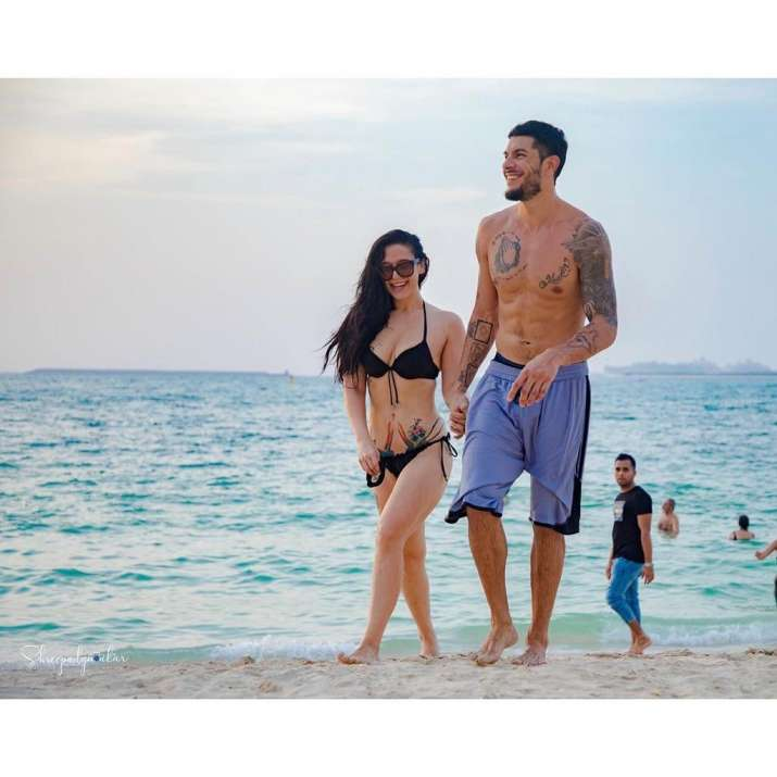 India Tv - Krishna Shroff with boyfriend Eban Hayms