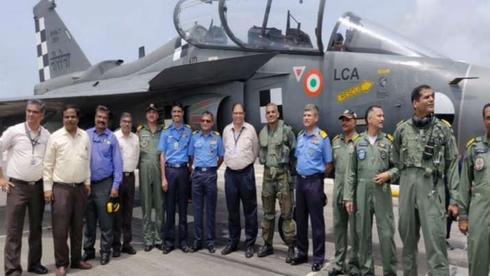 Naval LCA Tejas makes first-ever arrested landing in Goa