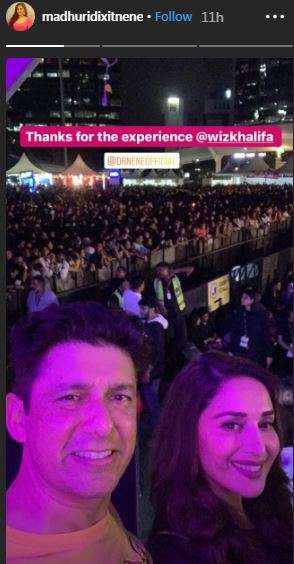 India Tv - Madhuri Dixit at Wiz Khalifa' Concert