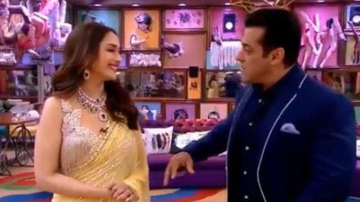Madhuri Dixit, Salman Khan recreate 'Didi Tera Dewar' scene inside Bigg Boss 13 house