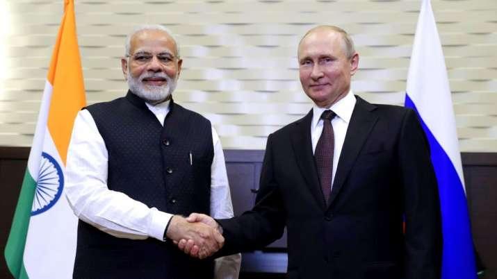 Narendra Modi Vladimir Putin meet