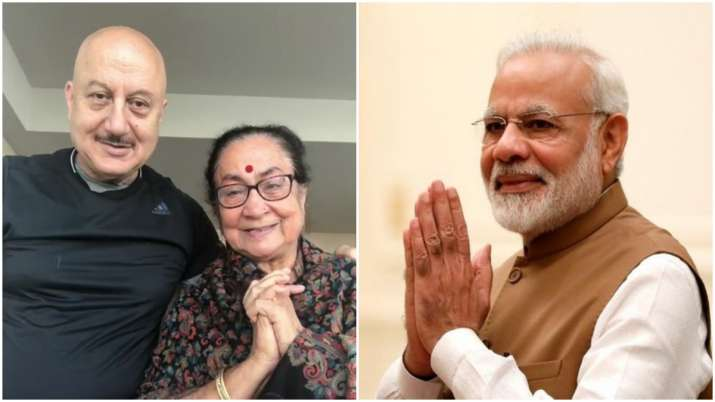 PM Modi touched by Anupam Kher's mother's wish on birthday