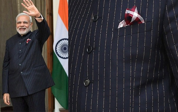 India Tv - PM Modi in a customized bandhgala suit.