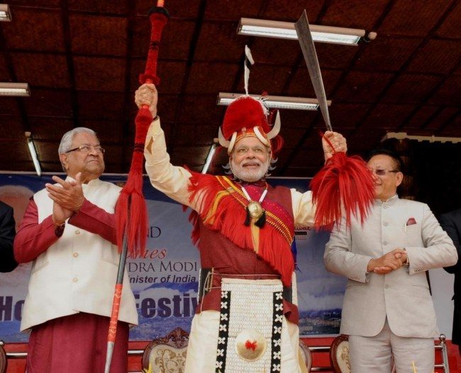 India Tv - PM Modi in Nagaland at the Hornbill festival.