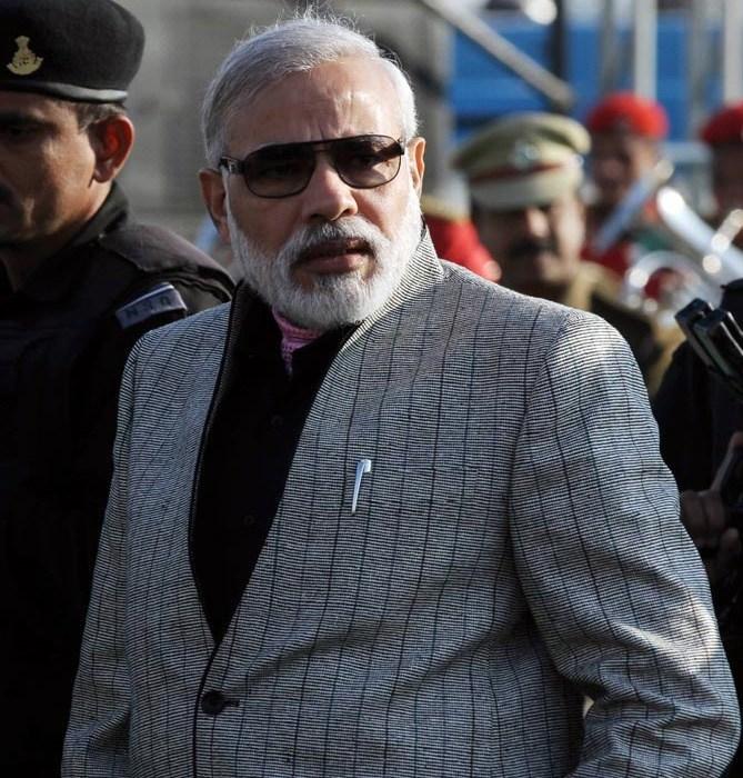 India Tv - Modi in a 'kala chashma'