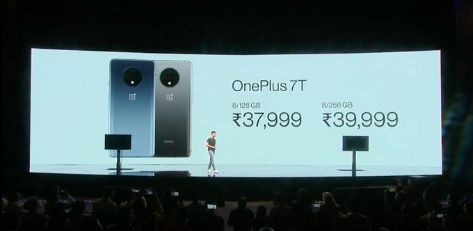 OnePlus 7T starts at Rs 37,999 for the base variant and