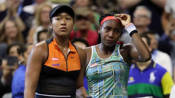 US Open: Naomi Osaka consoles Coco Gauff after easy win over