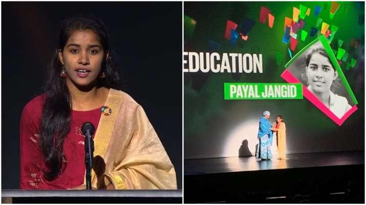 Payal Jangid awarded Changemaker award at Goalkeepers Global Goals Awards
