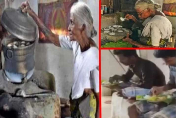 India Tv - Tamil Nadu woman selling one rupee idli on street gets LPG connection