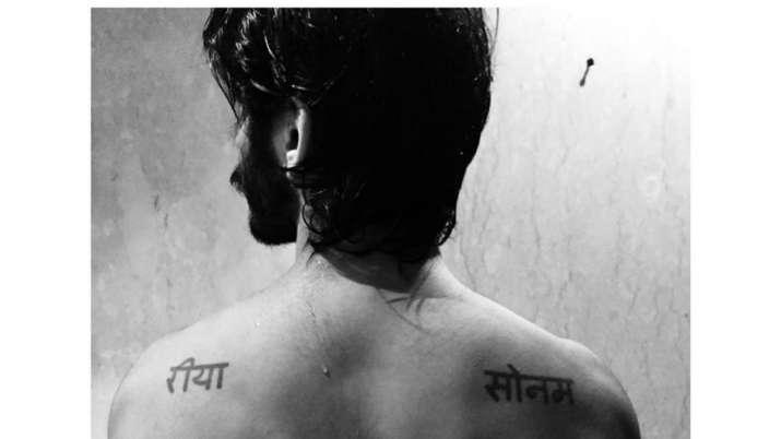 Harsh Varrdhan Kapoor flaunts sisters Sonam Kapoor and Rhea Kapoor names inked on his shoulders