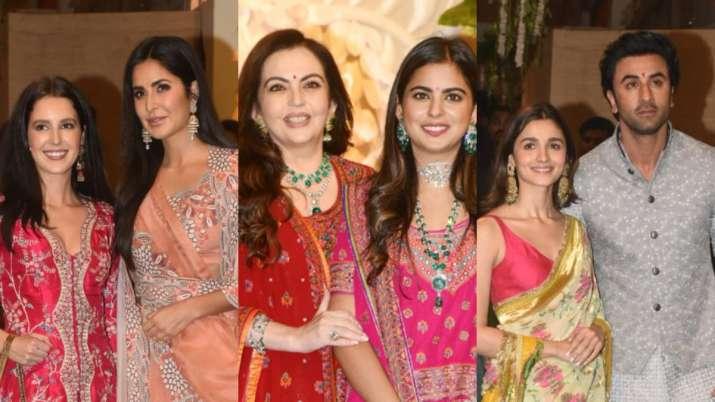 Bollywood celebs gathered at Ambani House for Akash Ambani