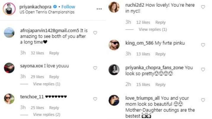 India Tv - Screenshot of Comments of Priyanka's Post