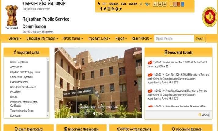 Rajasthan RPSC Recruitment 2019: 5000 RPSC 1st grade school