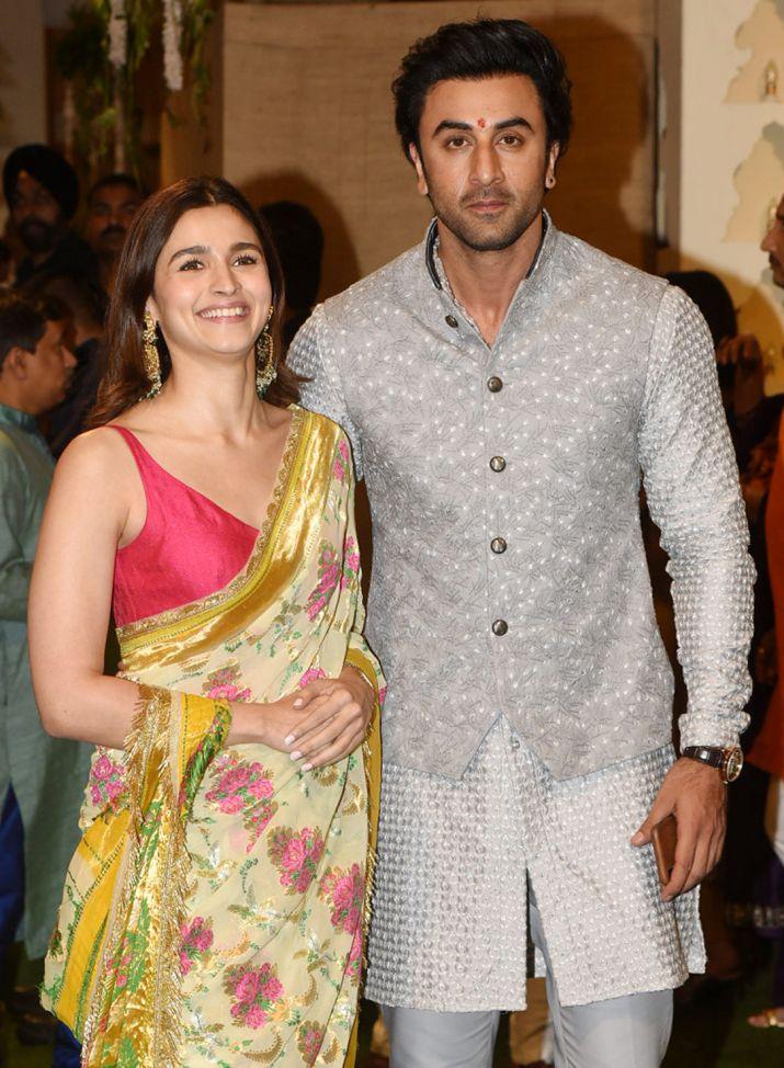 India Tv - Alia Bhatt and Ranbir Kapoor at Ambani's Ganesh Chaturthi celebrations