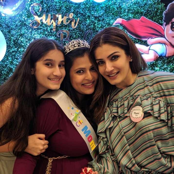 India Tv - Raveena Randon at her daughter Chhaya's baby shower