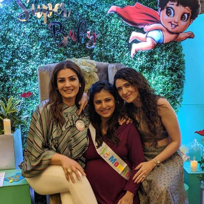 India Tv - Raveena Randon's daughter Chhaya's baby shower pictures