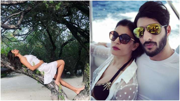 India Tv - Sushmita Sen and boyfriend Rohman Shawl's pictures from their Maldives vacation will give you major couple goals