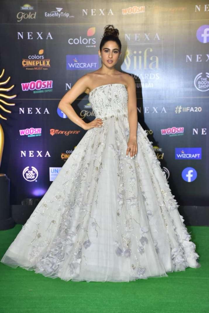 India Tv - Sara Ali Khan in a Gaurav Gupta gown