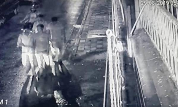 A still from the CCTV footage.