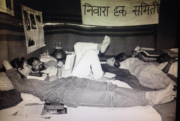India Tv - Shabana Azmi on fifth day of hunger strike with Anand Patwardhan, Gurubai Bhaskar and Hamza