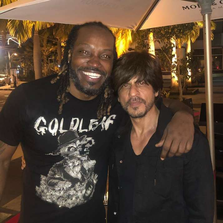 India Tv - Shah Rukh Khan and Chris Gayle